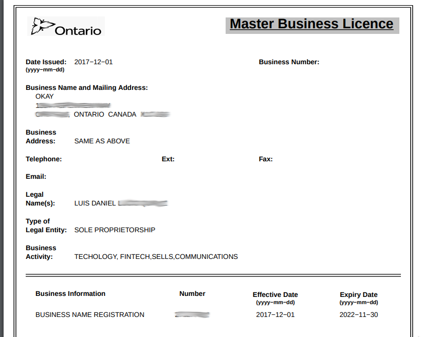 ontario master business license